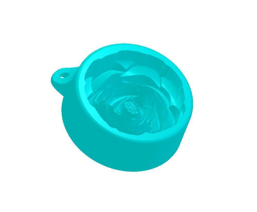 Роза чайная силиконовая форма