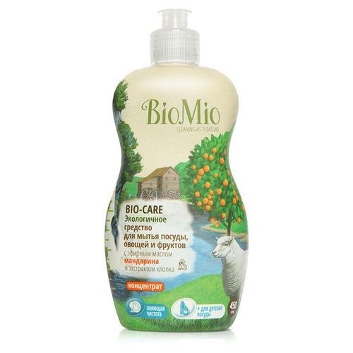 Средство для мытья посуды, овощей и фруктов, BioMio, Концентрат, с маслом хлопка, 450 мл