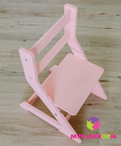 Растущий стульчик, розовый 7