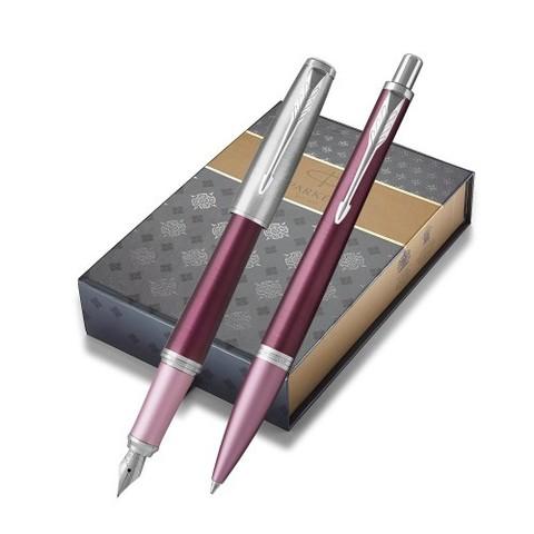 Подарочный набор с чехлом:  Перьевая и Шариковая ручки Parker  Urban Premium Dark Purple CT123