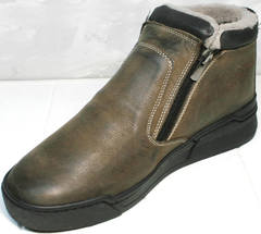 Ботинки на зиму мужские Rifellini Rovigo 046 Brown Black.