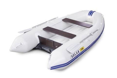 Надувная ПВХ-лодка Солар Оптима - 330 (светло-серый)
