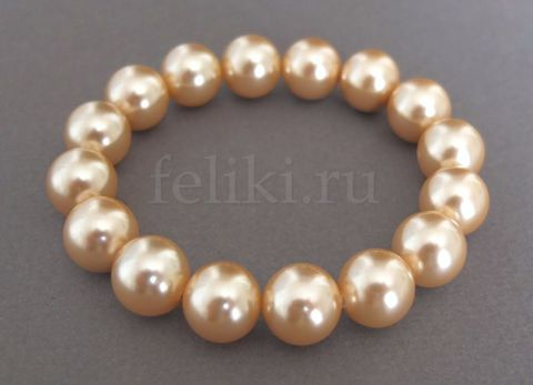 браслет золотистый из жемчуга майорка_фото