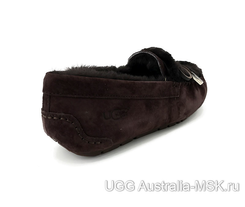 UGG Moccasins Ansley Rivets Chocolate