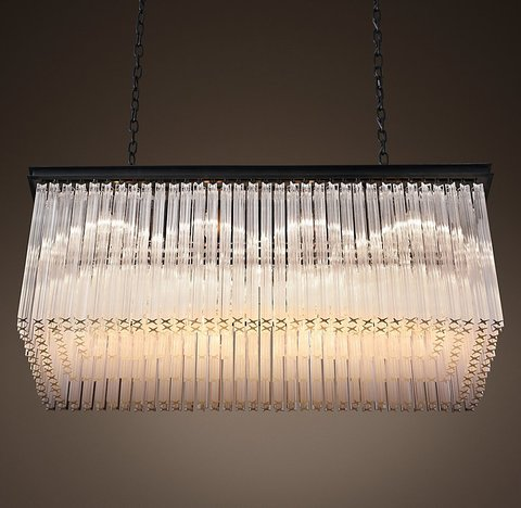 1930S Astor Crystal Rectangular Chandelier 40