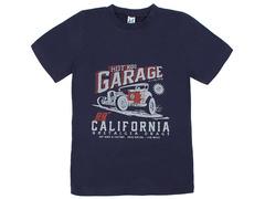 18059-8 футболка для мальчиков, темно-синяя