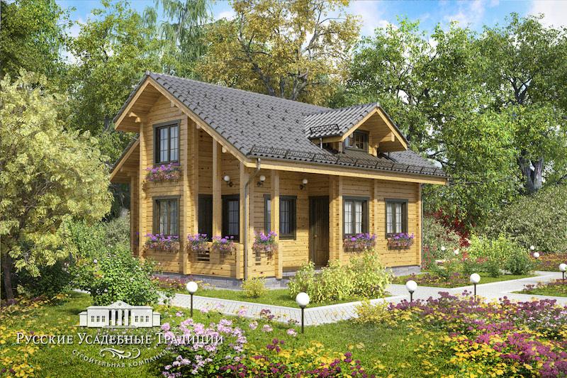 """Проекты домов «Шале» из бруса Проект двухэтажного дома """"Скандинавия"""" 120 кв.м. 2_svet_cam_04_logo.jpg"""