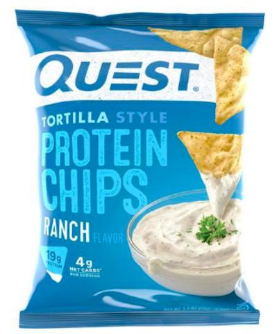 Quest Nutrition Protein Chips Ranch Tortilla Style (1шт) 32гр Протеиновые Чипсы Тортилья с соусом Ранч