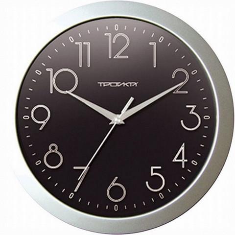 Часы настенные Troyka 11170182 круг плав.ход пластик
