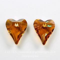 6240 Подвеска Сваровски Сердечко Wild Heart Crystal Copper (12 мм)