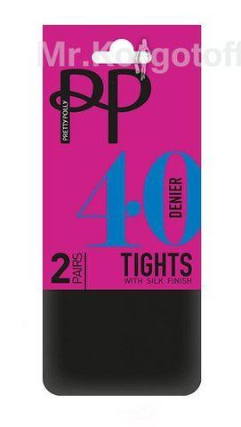 Колготки Pretty Polly Silk Finish 40 (2 пары, ERQ7)