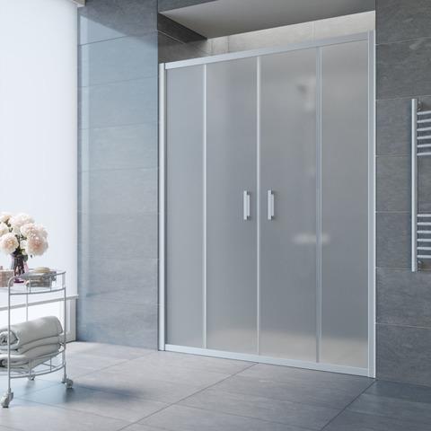 Душевая дверь в нишу Vegas Glass Z2P профиль матовый хром, стекло сатин