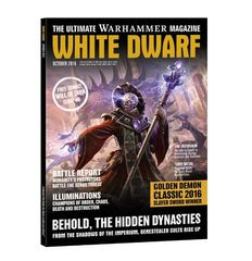 White Dwarf October 2016. Обложка