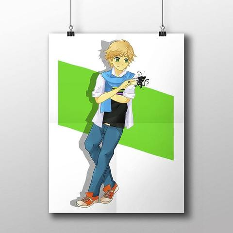 Плакат с Адрианом №2