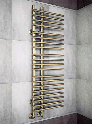 Astra Bronze - бронзовый полотенцесушитель с перекладинами внахлест. Бронза.