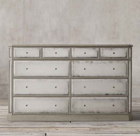 1930s French Mirrored 10-drawer Large Dresser