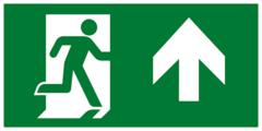 Направление к эвакуационному выходу прямо - современный эвакуационный знак