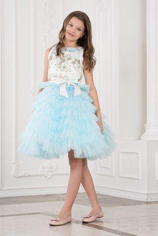 Пышное голубое платье (арт.617 мол/гол)