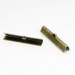 Концевик для лент 35 мм (цвет - античная бронза), 2 штуки