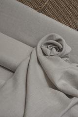 Ткань льняная смягченная, меланж на натуральном фоне