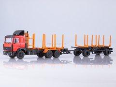 MAZ-6303 log truck with trailer MAZ-83781 1:43 Start Scale Models (SSM)