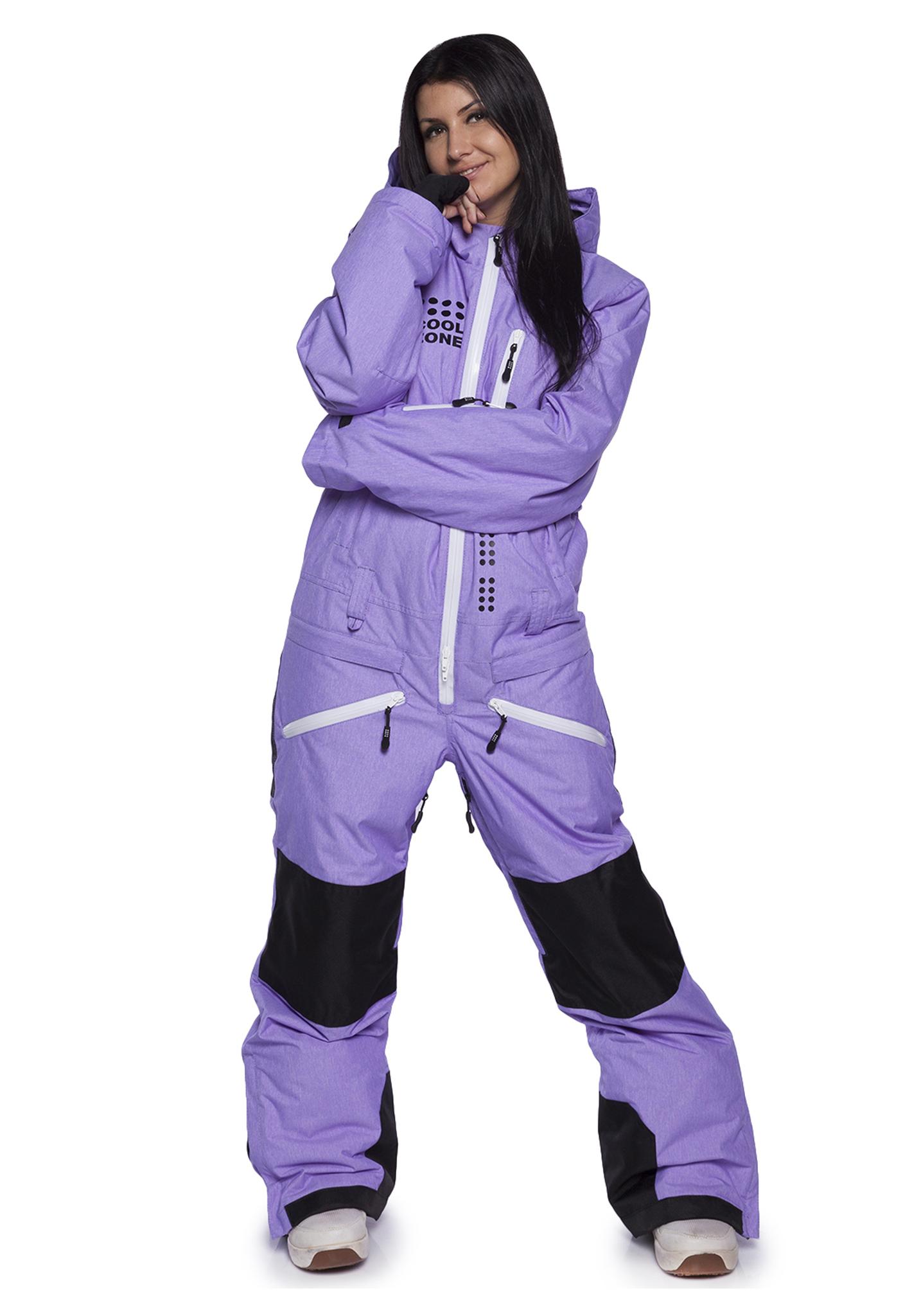 Женский утепленный сноубордический комбинезон Cool Zone Kite 31К32М фиолетовый фото