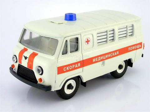 UAZ-3962 Bus Ambulance Medical Assistance (plastic painted) 1:43 Agat Mossar Tantal