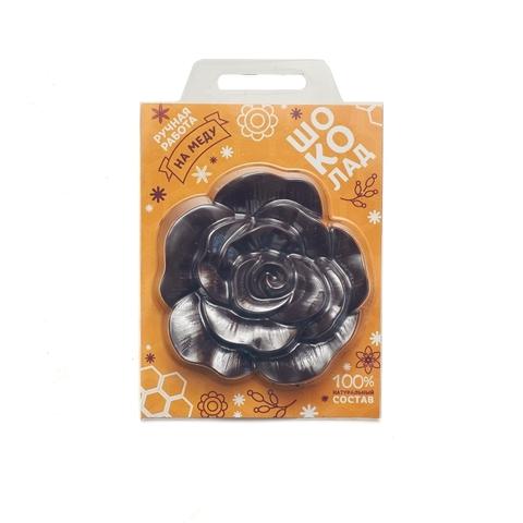 Цветок, Шоколад горький на меду, 50 гр.
