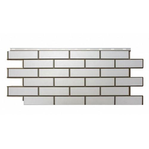 Фасадные панели (Цокольный Сайдинг) Nordside (Нордсайд) Гладкий Кирпич Белый