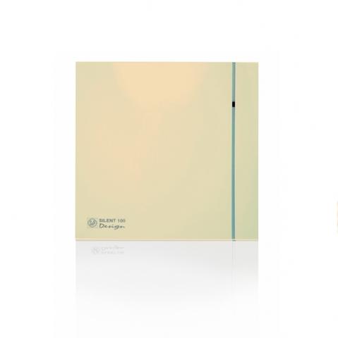 Вентилятор накладной S&P Silent 100 CHZ Design Ivory (датчик влажности)