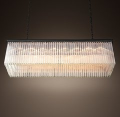 1930S Astor Crystal Rectangular Chandelier 59