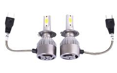 Комплект LED ламп головного света C6 H7, 12v (вентилятор)