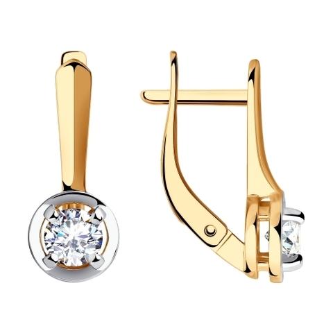 028612 - Серьги из золота с фианитами
