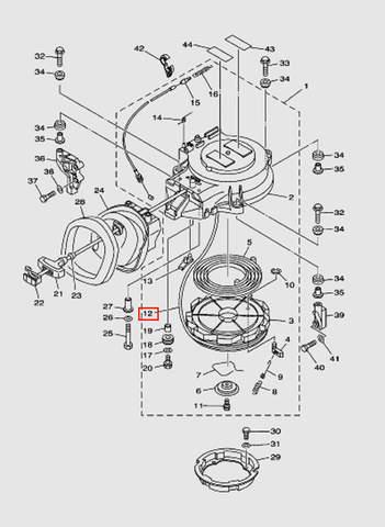 Веревка стартера L:1800MM для лодочного мотора T40 Sea-PRO (7-12)