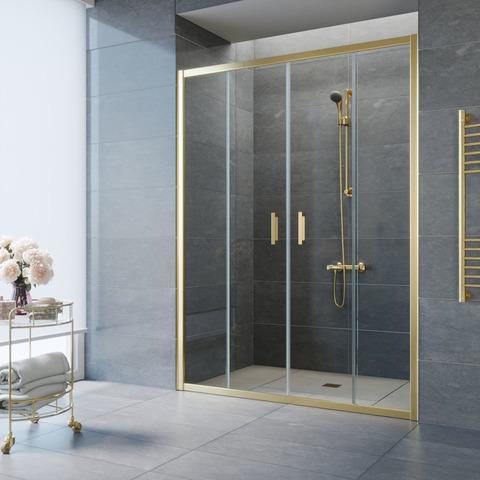 Душевая дверь в нишу Vegas Glass Z2P профиль золото, стекло прозрачное