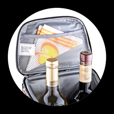 Сумка-холодильник IGLOO 2 Bottle Wine Tote 16 (леопард)
