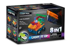 Конструктор Laser Pegs «Военная машина с цветными деталями» 8 в 1 (RN1320В)