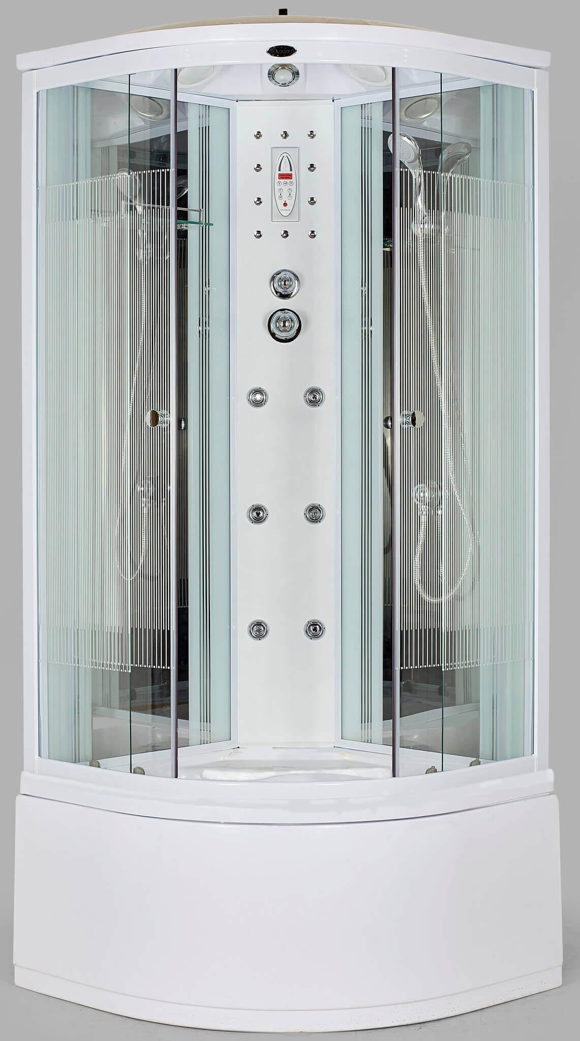 Душевая кабина Niagara (Ниагара) NG-708 угловая, с глубоким поддоном (высокая), стеклянная, размер 90х90 см