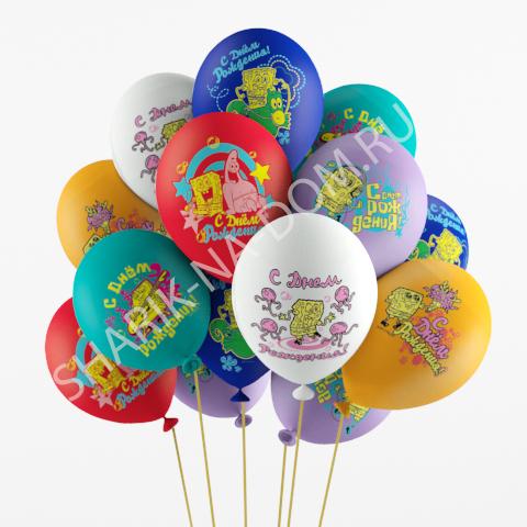 """Детям Воздушные шары с Днем Рождения """"Губка Боб"""" Шары_Губка_Боб.jpg"""
