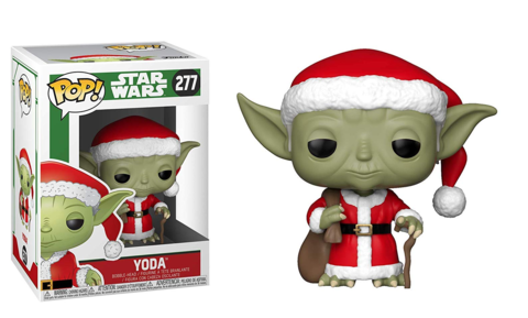 Фигурка Funko POP! Bobble: Star Wars: Holiday: Santa Yoda 33885
