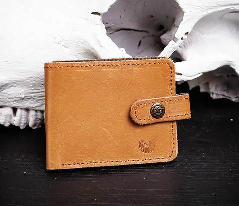 Мужской кожаный кошелек ручной работы, «Boroda Design»