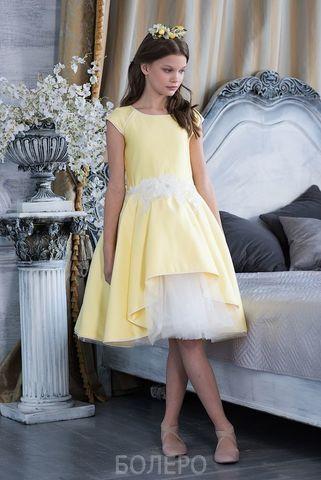 Нарядное платье  (арт.602 желт)
