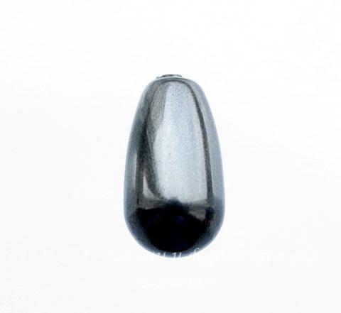 5816 Хрустальный жемчуг Сваровски Crystal Black Капля с несквозным отверстием 11,5х6 мм