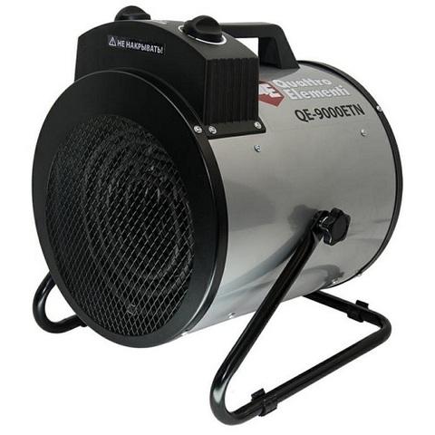 Нагреватель воздуха электрический QUATTRO ELEMENTI QE-9000 ETN (4.5 / 9кВт, 380В-3ф, 880м3/час) — цилиндр (649-288)