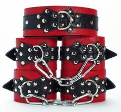БДСМ набор фиксаторов с мехом (BDSM арсенал)