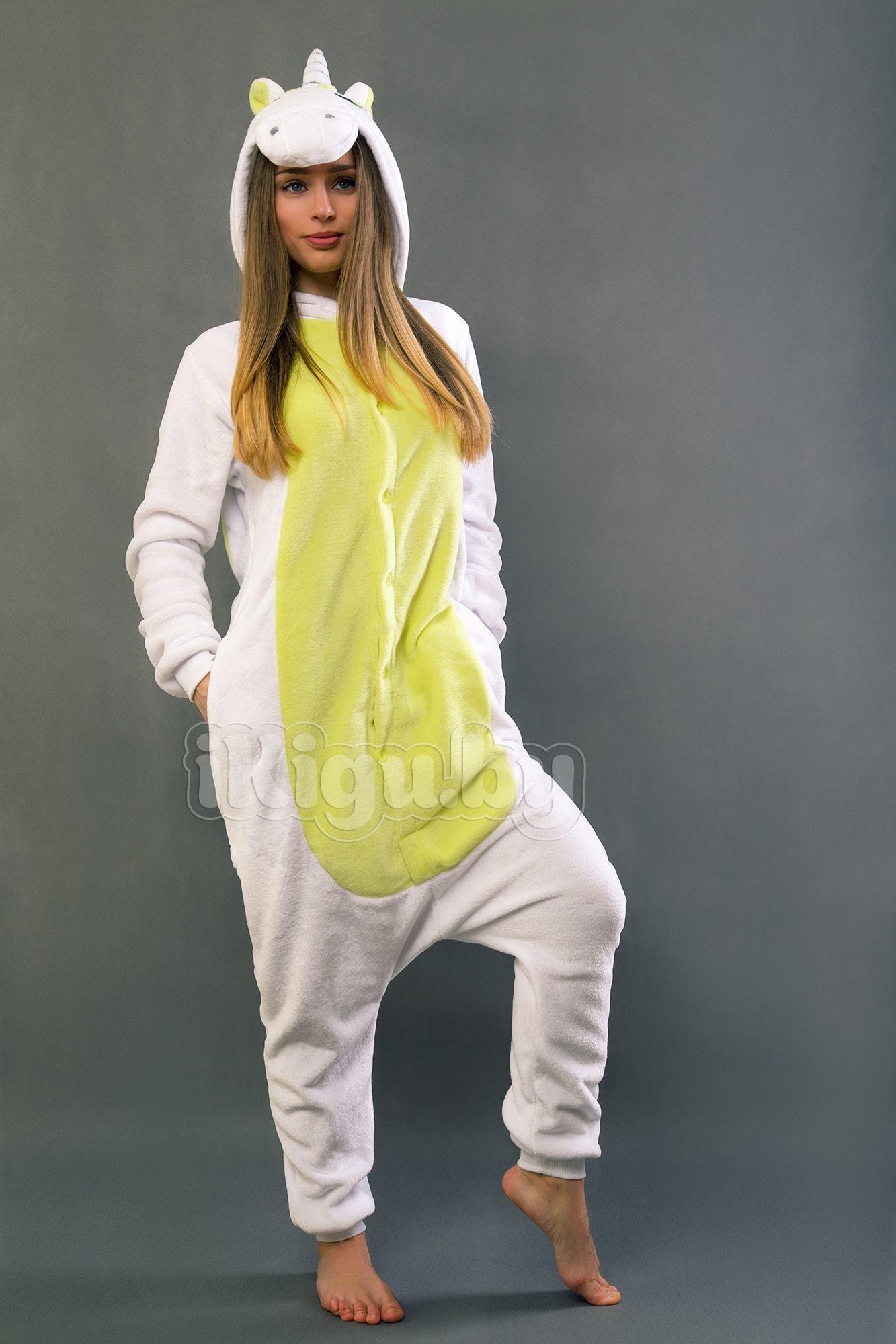 Пижамы кигуруми (рост от 140 до 187 см) Единорог Салатовый IMG_8021-min.jpg
