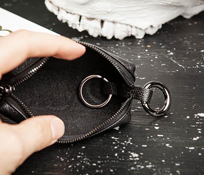 BC218-1 Удобная ключница «Santini» из натуральной кожи с кольцом фото 07