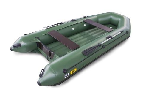 Надувная ПВХ-лодка Солар SL - 380 (зеленый)
