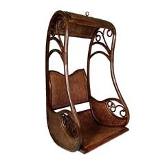 Подвесное кресло из натурального ротанга Hanging Coffe (без стойки)