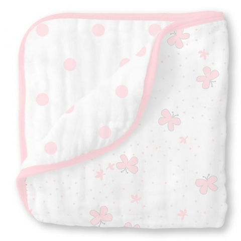Одеяло Luxe Muslin Little Ships Pink